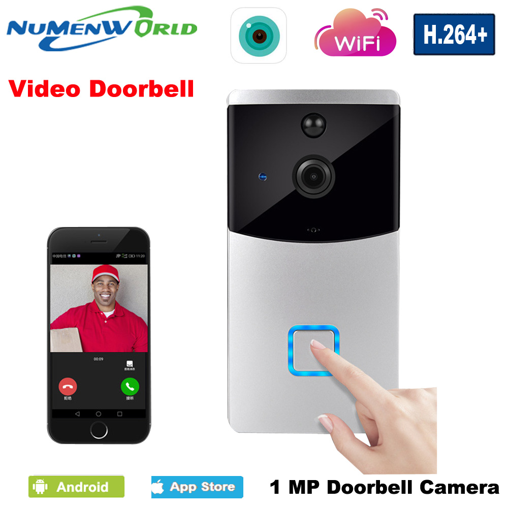 NuMenWorld WiFi Video Doorbell IP Camera Wireless Dingdong Door bell Night Vision Security&Protection Video Intercom wifi ip doorbell camera wireless video door phone intercom wifi night vision ir security camera waterproof door camera doorphone