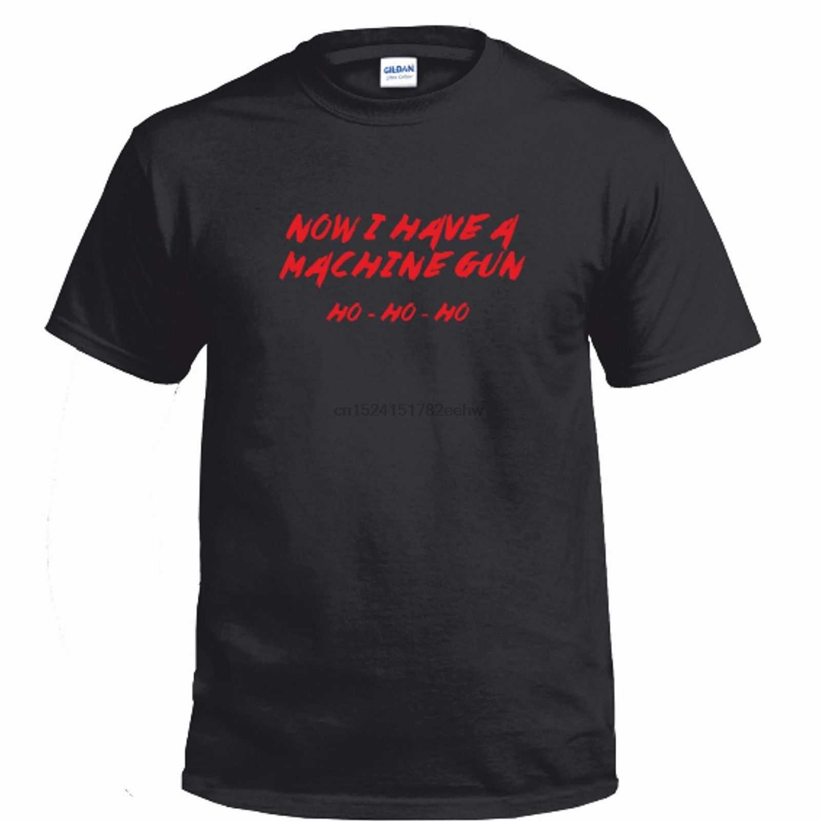 Мужская футболка с надписью «DIE HARD»-Now I Have A Machine Gun-Рождественская футболка Брюса Уиллиса