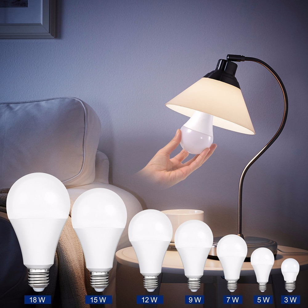 Smernit LED Light Bulb E27 AC85-265V 7W 9W 12W 15W 18W White 110V 120V 220V 230V 240V Warm Energy Saving Bulbs Lamps Lampada