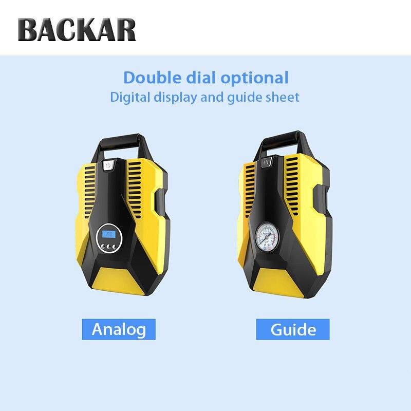 BACKAR Universal Car Air Pump Tire Inflator Compressor Sticker For Mitsubishi lancer Peugeot 206 307 308 BMW F30 F10 Accessories
