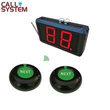 Toma una pantalla de 2 dígitos del sistema numérico con el siguiente botón de Control, sistema de espera de número inalámbrico