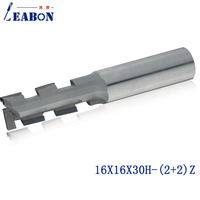 LEABON 16*16*30H (2+2)Z Diamond two flute spiral CNC router bits/ Milling cutter / woodworking bits/end mill for MDF,Plywood