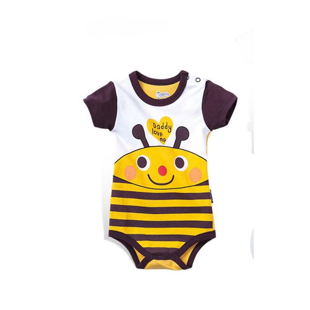Meninas Do Bebê recém Nascido Macacão de Algodão Roupas de Bebê Verão Menino Corte Dos Desenhos Animados Macacão Macacão roupas roupas de bebe Infantil Traje