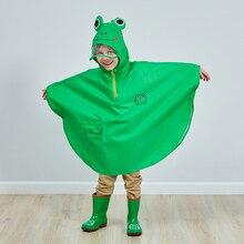 2018 Cute Small Waterproof Rain Coat Animal Print Boy Children Girls Windproof Poncho Kindergarten Student Baby Raincoat