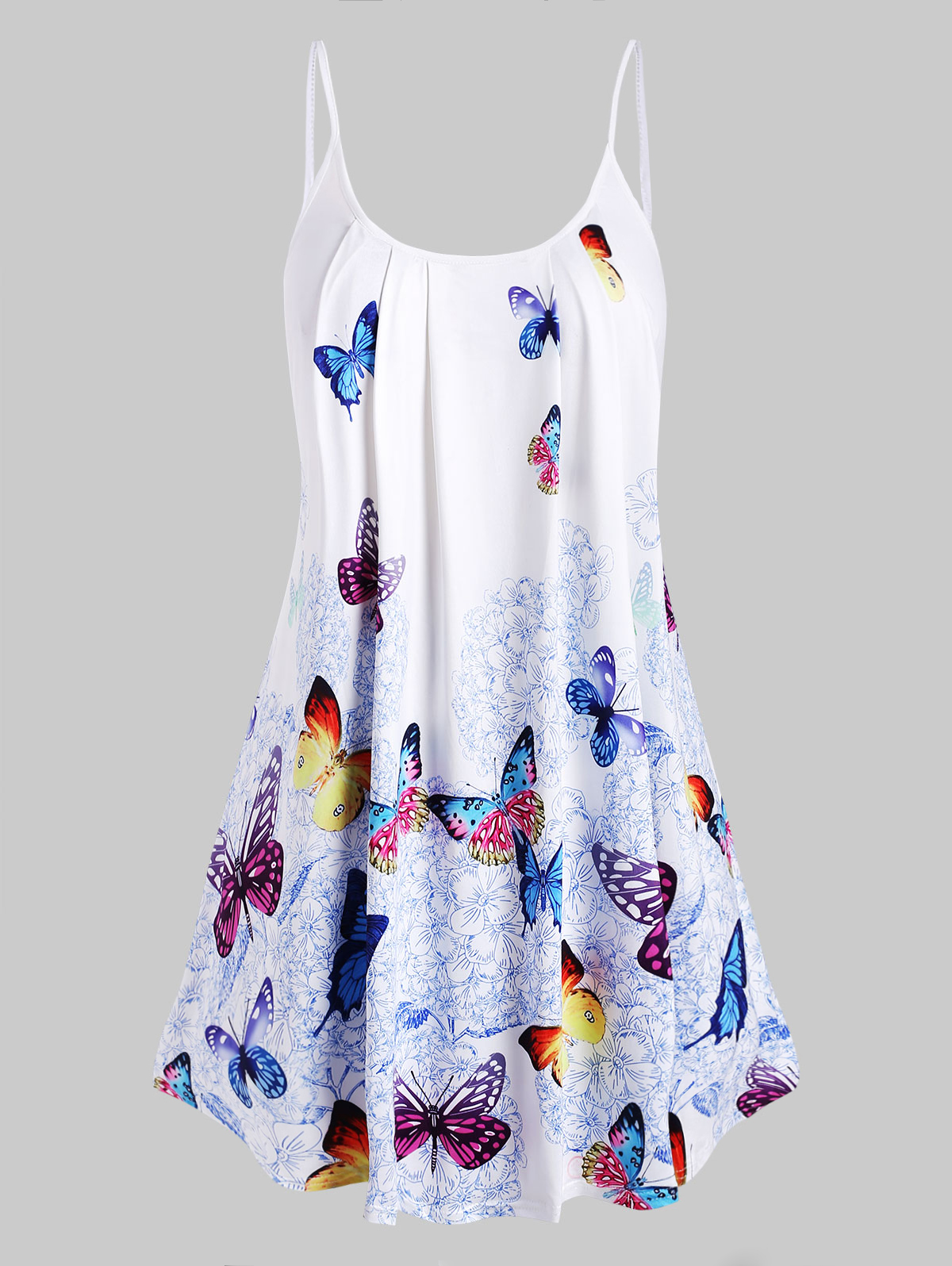 Wipalo Spaghetti Strap Plus Size Butterfly Print Cami Top Women Camis 2019 Fashion Summer Sleeveless Tees Women Clothes