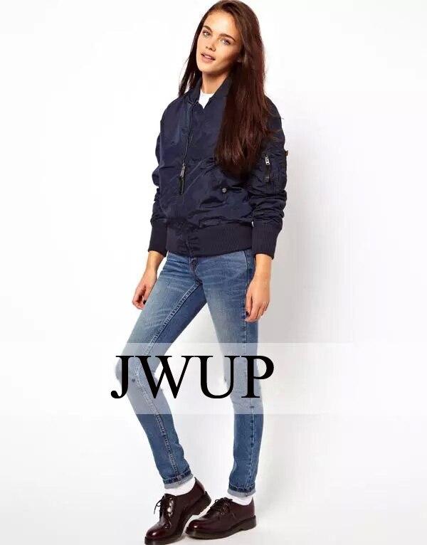 Womens bomber ma1 flight jacket