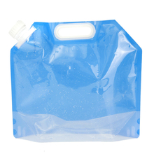 5L Folding Collapsible Water Bag Container Clear Drink Water Storage Bucket Lifting Bag for Survival Outdoor Camping Hiking