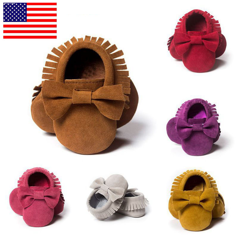 WEIXINBUY Toddler Anti-slip Moccasin Sneakers Kids Baby Girls Boys New Born Infant Soft Sole Crib Shoes Prewalker