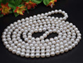 "free shipping Fine 70"" 9mm near round  freshwater pearl necklace"
