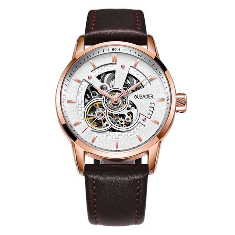 dropshipping Men Mechanical Watches Luxury Automatic Gold Tourbillon Clock Skeleton Transparent Male Wristwatch zegarki meskie dropshipping