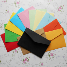 10pcs/lot 11.8*8cm Color Envelope Solid Triangle Seal Mini Gift Card Member Bank
