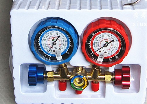 Air conditioning and fluoride table /refrigerant pressure gauge/dual refrigerant table/air conditioning refrigerator repair tool ves 50b quantitative refrigerant liquid refrigerant said quantitative electronic fluoride electronic scales
