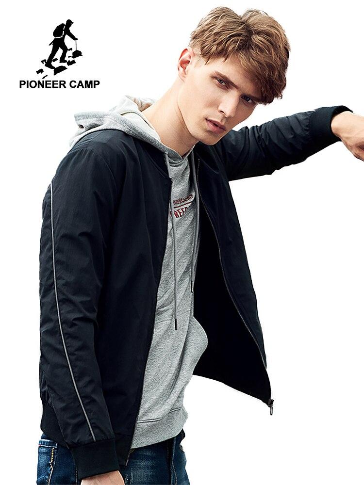 Pioneer Campo cappotto del rivestimento degli uomini giacca nera di qualità maschio casuale sportwear AJK705123