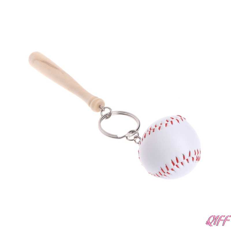 Llaveros llavero deportivo de béisbol colgante de madera bolsa de coche decoración regalos únicos