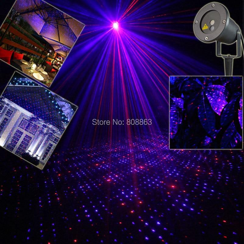 Фотография Outdoor Waterproof R&B Laser Blue Full Stars Projector Holiday Home House Xmas Tree Wall DJ Lighting Garden Landscape Light T45