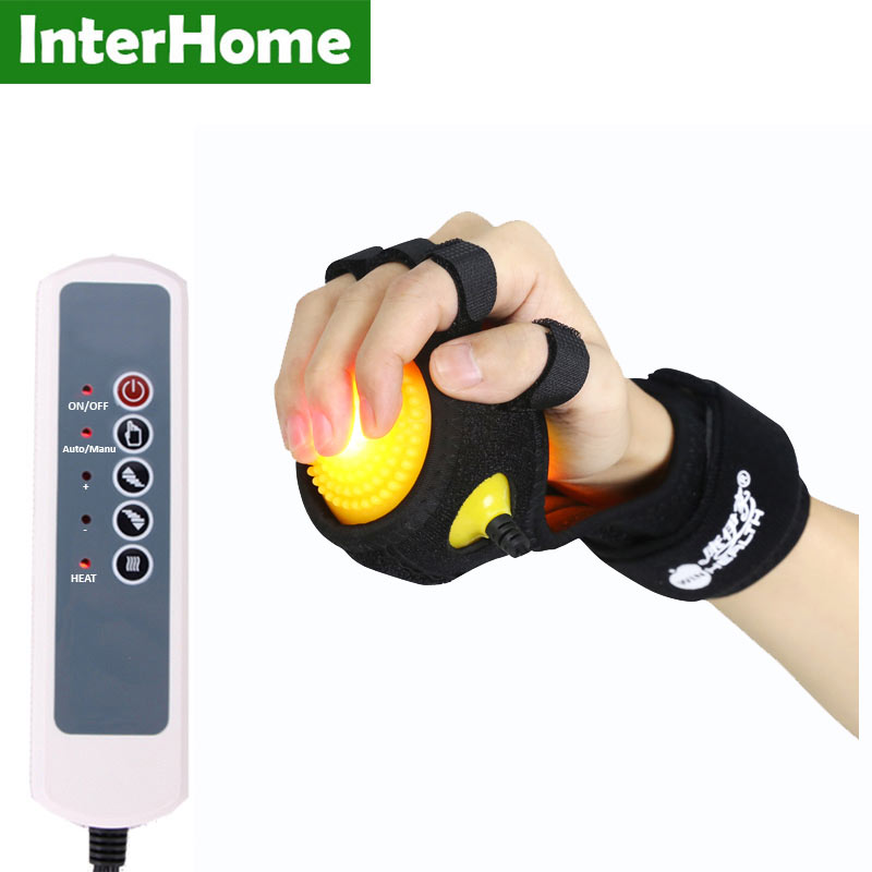 Infrared Hot Compress Hand Massager Ball Massage Hand and Fingers Physiotherapy Rehabilitation Spasm Dystonia Hemiplegia Stroke