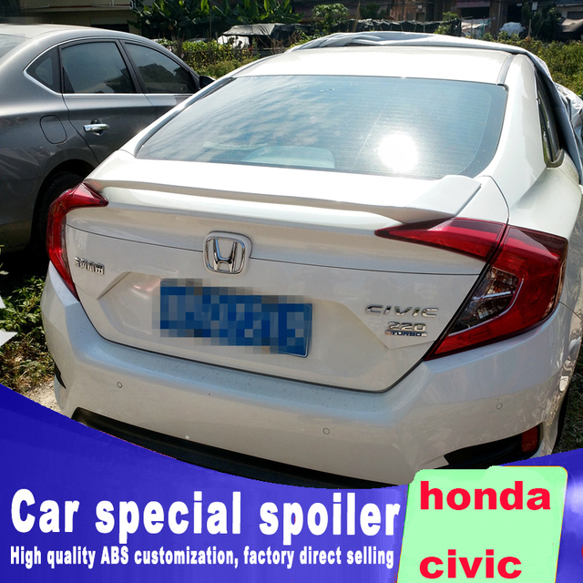 2015 2016 2017 2018 New Design Big Spoiler For Honda Civic By Primer