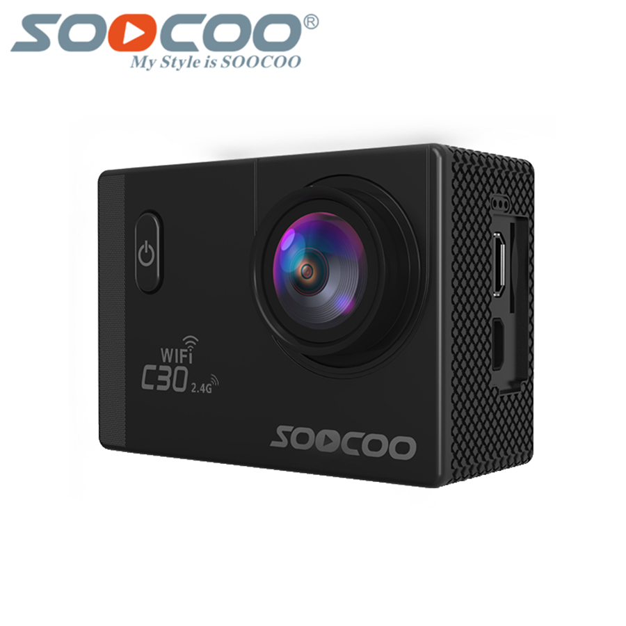 SOOCOO C30 Action 4K Sport Camera, NTK96660 Waterproof Wifi Gyro 70-170 Degrees Adjustable Action sports Cam soocoo c30 sports action camera wifi 4k gyro 2 0 lcd ntk96660 30m waterproof adjustable viewing angles