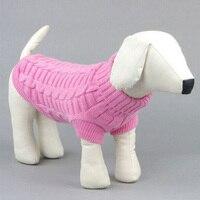 Suéter Del animal doméstico Grande Pequeño Lindo Perro de Mascota Cachorro Abrigos Ropa Suéter Jumper Prendas de Punto Caliente Al Aire Libre