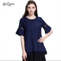 Sparogerss 2018夏新しいファッションレディース半袖tシャツセクシーなネット糸ステッチ女