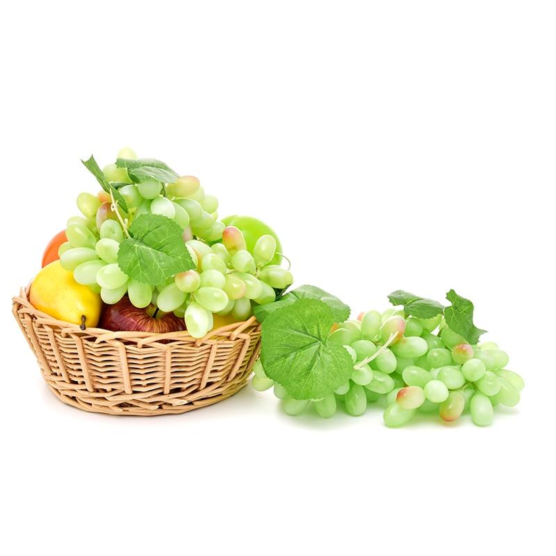 bnrwSimulation Fruits PU 110 Grain Grapes Kitchen Toys for Children Kids Pretend Play Toys Home Wedding Party Garden Decor