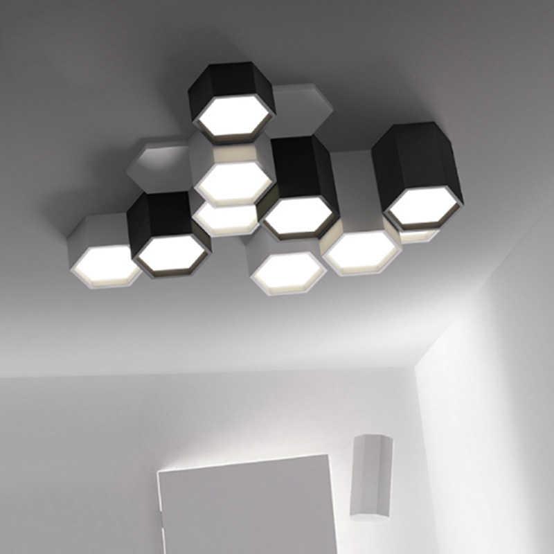 Moderne Minimalistischen Diy Kombination Hexagon Design Decke Lampe Frosted Eisen Led Wohnzimmer Beleuchtung Acryl Dekoration Leuchte Deckenleuchten Aliexpress