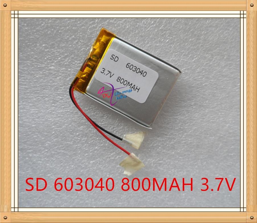 Liter energy battery 3.7V shipping GPS navigator 063040 800mAh universal recorder