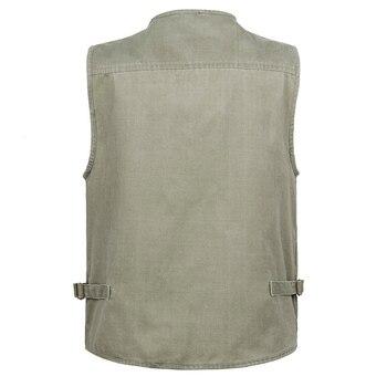 5XL 6XL 7XL New Male Casual Summer Big Size Cotton Sleeveless Vest With Many 16 Pockets Men Multi Pocket Photograph Waistcoat 1