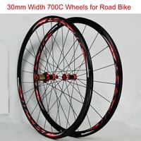 700CC колеса двухэтажные алюминиевый сплав колесная велосипеды углеродного концентратора спереди 2 сзади 4 подшипники C/V тормоз 1 пары колеса