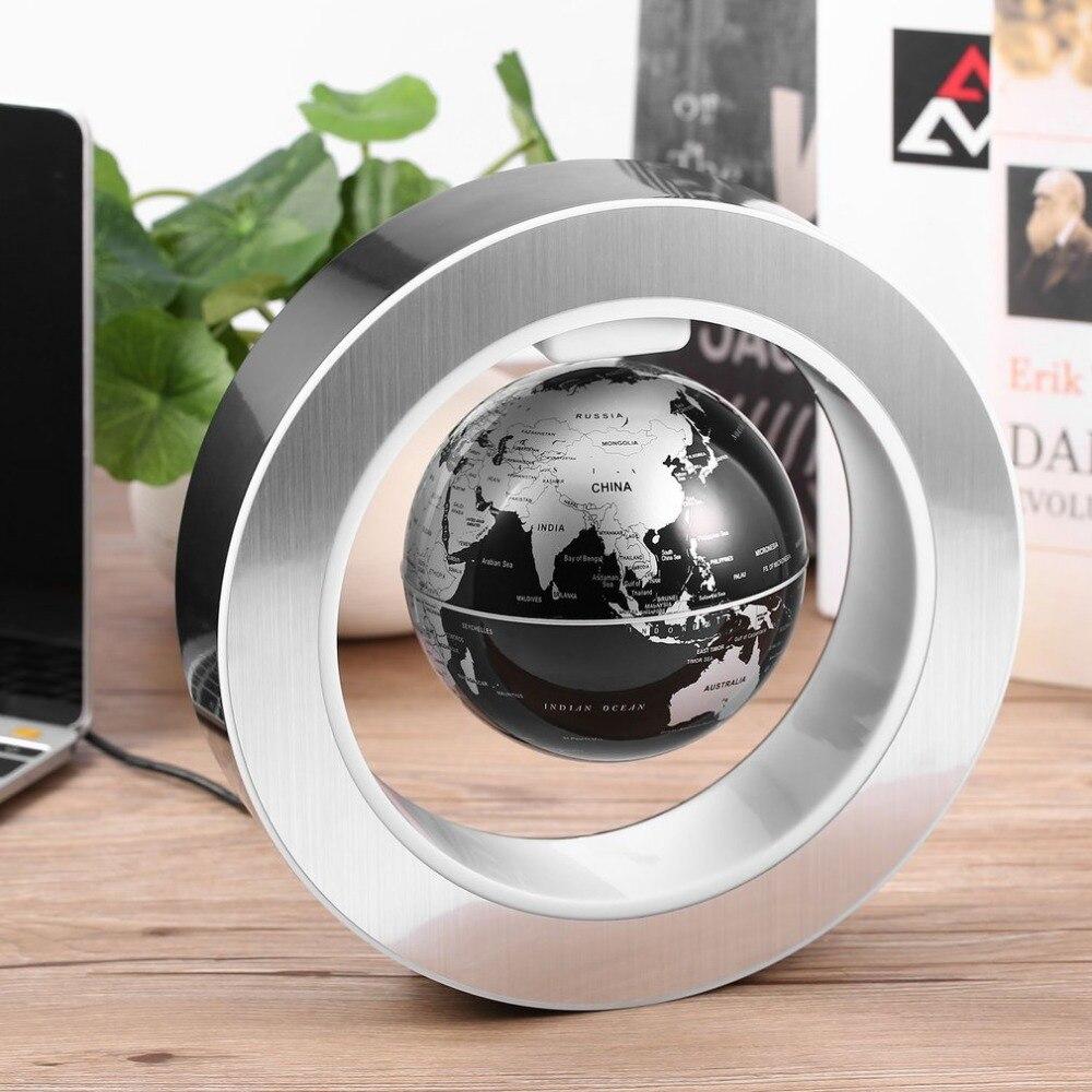 Géographie monde Globe magnétique flottant Globe LED lévitation rotatif Tellurion carte du monde école bureau fournitures décor à la maison 2018