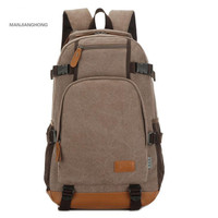 MANJIANGHONG 15 Inch Laptop Backpack Canvas School Bags For Teenagers Casual Men S Backpacks 20 35L