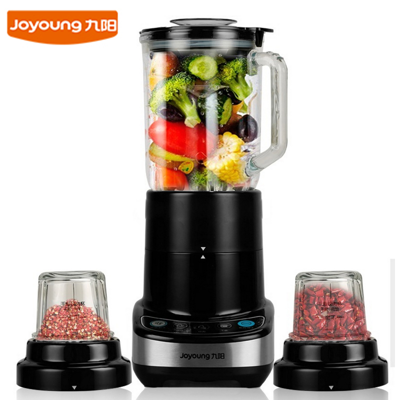 Jy20 Food Mixers Juicers Blenders Dry Grinding Meat Grinders Thicken glass cup 2 gear 26000 rev/min 3 cups + 3 knives 400W 1.5L