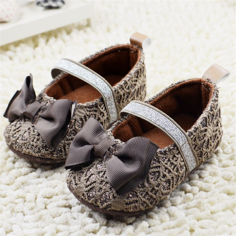 Cute Princess Infant Girl Shoes With Bowknot lovely Children`s Footwear Baby Girls Newborn Toddler Soft Soled Shoes Zapatos Nina