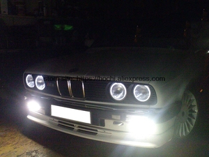 Image 2 - Hotech Kit yeux dange Halo blanc, 4 pièces, pour BMW E30 E32 E34 120 1984, phare Halo 1990mm CCFL