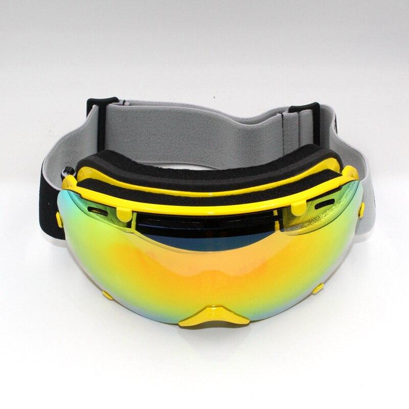 Новое поступление унисекс зима doubl объектив горнолыжные очки УФ-защиты зимние спортивные очки Анти-туман Велоспорт катание на лыжах goggle