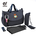 ECOSUSI 5 PCS/SET Baby Nappy Bags Diaper Bag Mother Shoulder Bag Fashion Maternity Mummy Handbag Waterproof Baby Stroller Bag