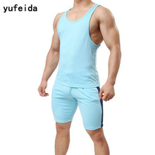 48fad349b32a10 YUFEIDA Men s Underwear Suit Tank Top Sleeveless Summer Vest and Underpants  Top Tees Fitness Tights Bodybuilding