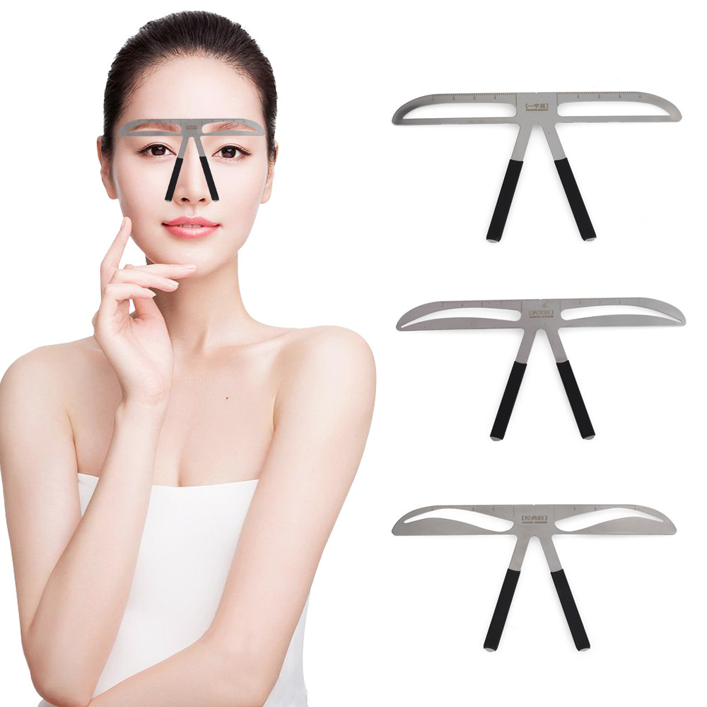 Online Shop 2set Plastic Eyebrow Stencils Beauty Products Makeup Template 12pc Permanent Tatoo Shaper Easy To Use Stencil Kit Diy