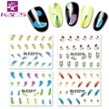 55sheet BLE2215-2225 Water decal Nail Sticker Flower design nail sticker For nail accessories 11sheet/set