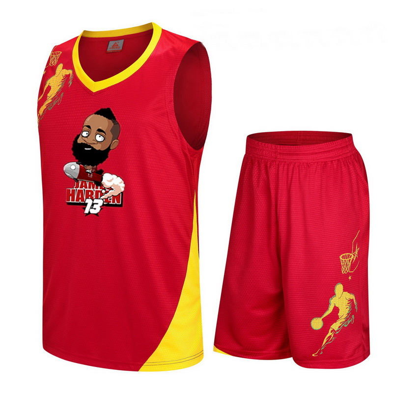 1c29ca7820b James Harden cartoon printing Suits 2018 summer Men Basketball Tracksuit  Vest Quick drying Sets Sleeveless T shirt Shorts-in Men s Sets from Men s  Clothing ...