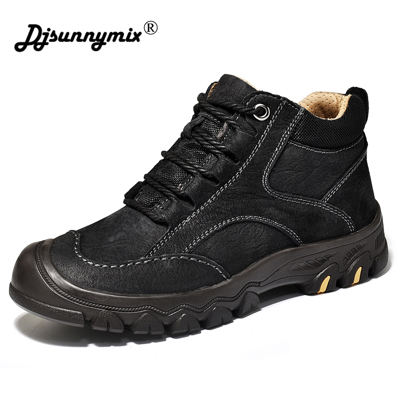 Designer Winter Fur Snow Men Boots Autumn Non-slip Rubber Sole Men Ankle Boots Tactical Waterproof Men Shoes Footwear france tigergrip waterproof work safety shoes woman and man soft sole rubber kitchen sea food shop non slip chef shoes cover