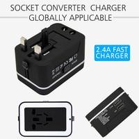 Универсальный многофункциональный устройство Великобритании, США АС в ЕС AC Мощность Plug Путешествия Зарядное устройство адаптер на выходе ...