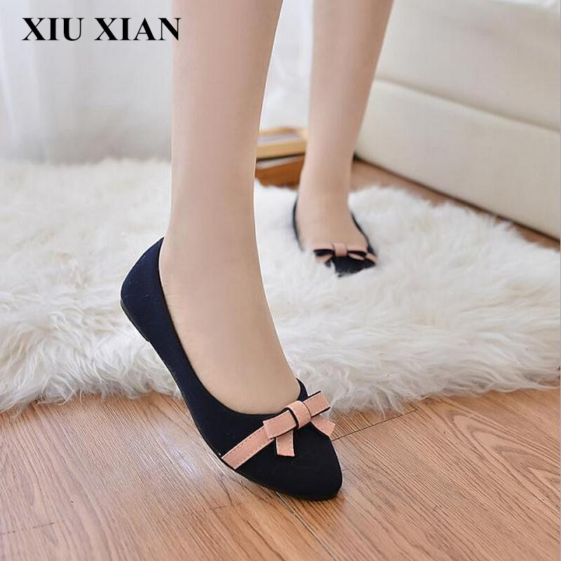 New Summer 2017 ladies Butterfly Flats Women Blue Ballet flats Shoes foldable Rubber Soles Women Pointed Toe Flats Bow Size35-40 new 2017 spring summer women shoes pointed toe high quality brand fashion womens flats ladies plus size 41 sweet flock t179