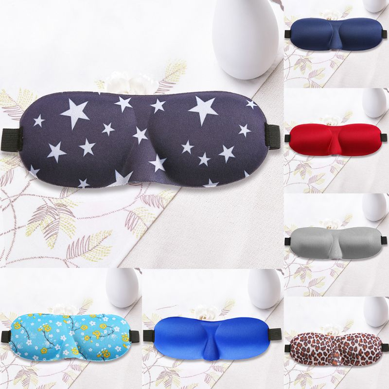 3D Contoured Sleep Mask Star Floral Eyeshade Cover Portable Adjustable Blindfold3D Contoured Sleep Mask Star Floral Eyeshade Cover Portable Adjustable Blindfold