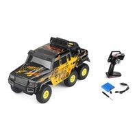 1:18 Escala 6WD Do Acelerador 2.4G Bigfoot Carro RC Rocha Elétrica alpinista Controle Remoto Controle de Rádio Do Caminhão Modelo de Carro de Brinquedo Do Miúdo presente