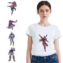 Thor/Thanos/Captain Marvel Movie Summer Plus Size Loose O-NECK Modal 2019 Fashion Casual Womens T Short Sleeve Clothes A193291