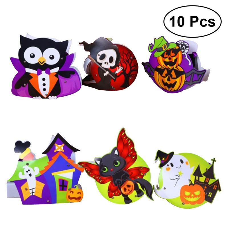 10Pcs Halloween Pumpkin Witch Children Gift Bag Candy Bag Shopping Mall Decoration Halloween Party Festival DIY Decoration