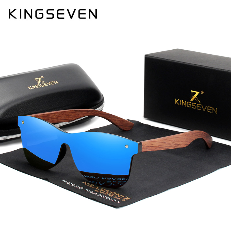 KINGSEVEN Natural Wooden Polarized Sunglasses 5