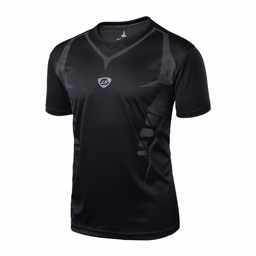 LYP Sport Men Quick Dry Wicking Running T-shirts Mallas Hombre Training Compression Breathable Sports Fitness Gym Shir