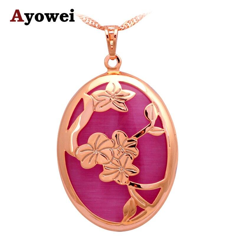 Jos fan's store Shock Design Huge Pendant Gold color Crystal Zircon Pendants  Necklace for Women Anniversary Fashion Jewelry LN555A